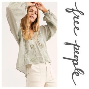 NWT FREE PEOPLE SPANISH MOSS SIVAN TOP
